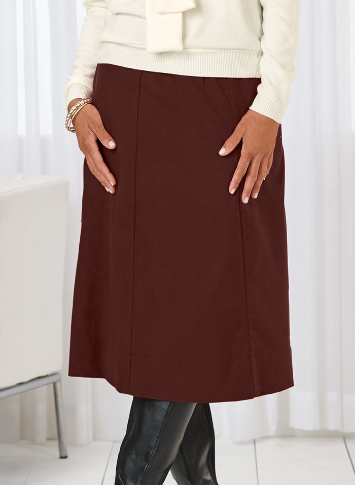 Casual A-line Corduroy Skirt - AmeriMark - Online Catalog Shopping for Womens Apparel | Beauty ...