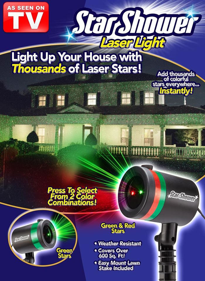 Star shower laser light amerimark for Star shower motion m6
