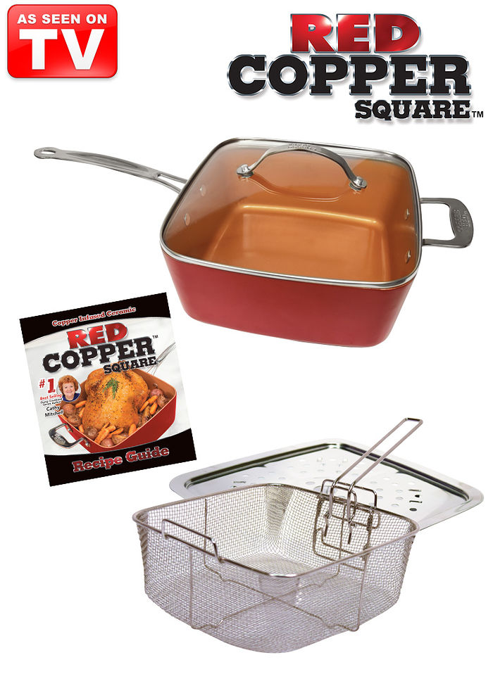 5 Pc Red Copper Pan Set Amerimark Online Catalog