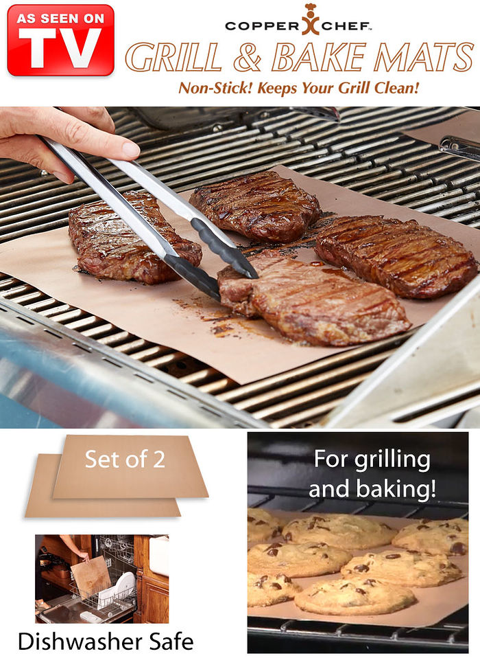 Copper chef grill and bake mats amerimark online catalog