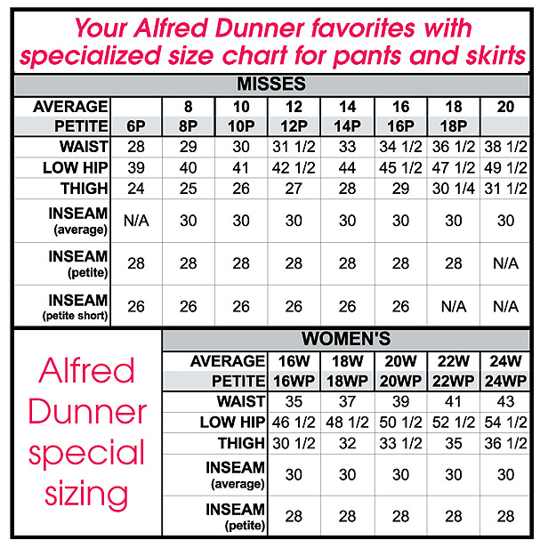 Alfred dunner pants amerimark online catalog shopping for womens