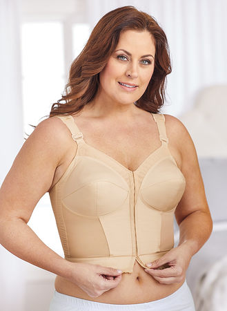 1ff104209aa2e Main Exquisite Form® Longline Front-Close Bra hover here for zoom