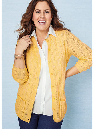 Main Cable Stitch Cardigan