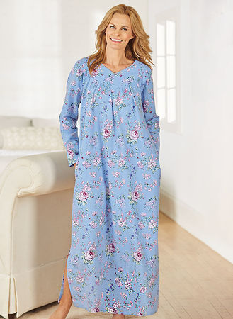 acfff72d4db Floral Flannel Gown | AmeriMark