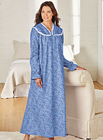 Product Review Lace Trimmed Flannel Nightgown