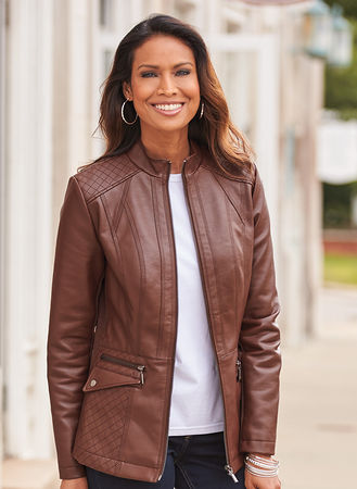 Main Faux Leather Jacket