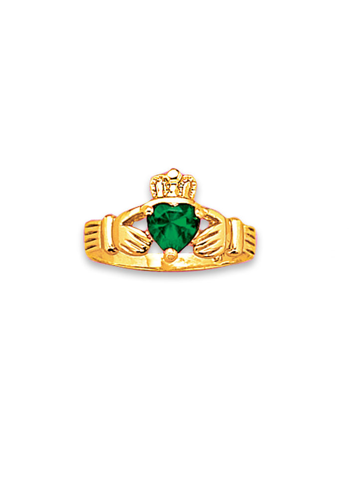 Emerald Claddaugh Ring