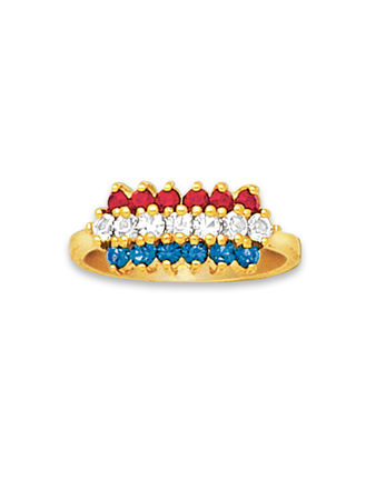 Main Patriotic Crystals Ring