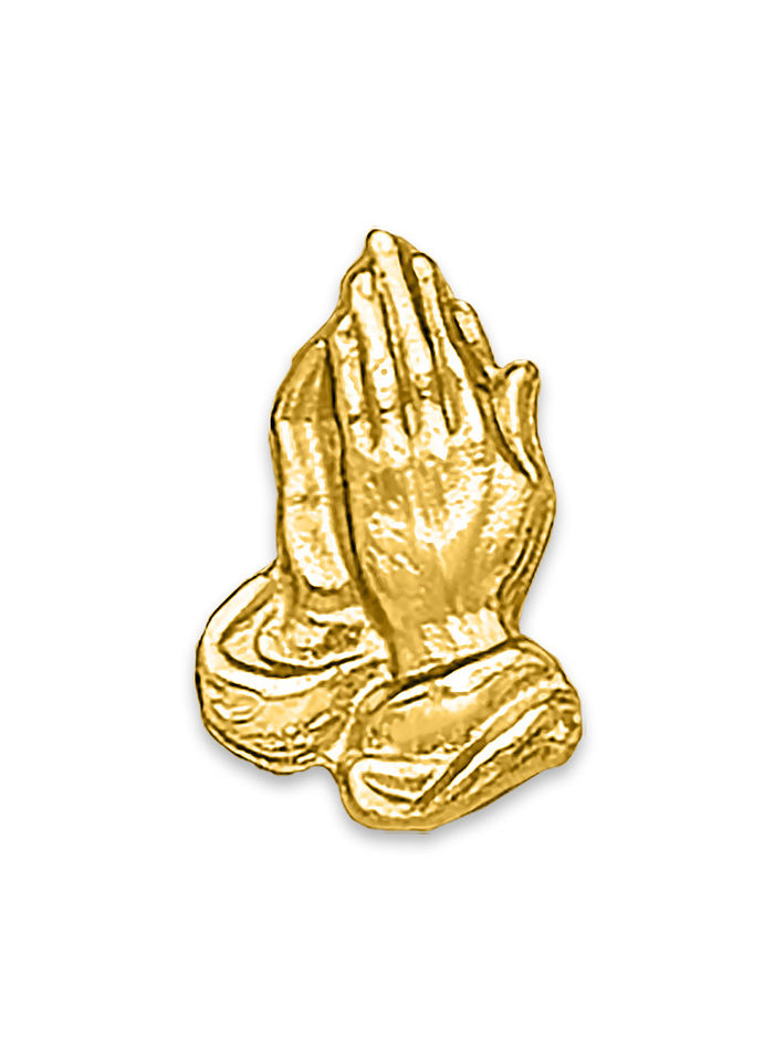Praying Hands Tack Pin