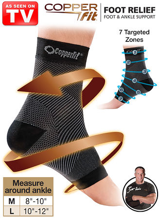 c47ee9372a7 Main Copper Fit® Foot Relief Foot   Ankle Support hover here for zoom
