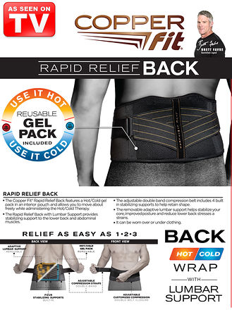 Main CopperFit™ Rapid Relief Wrap Back