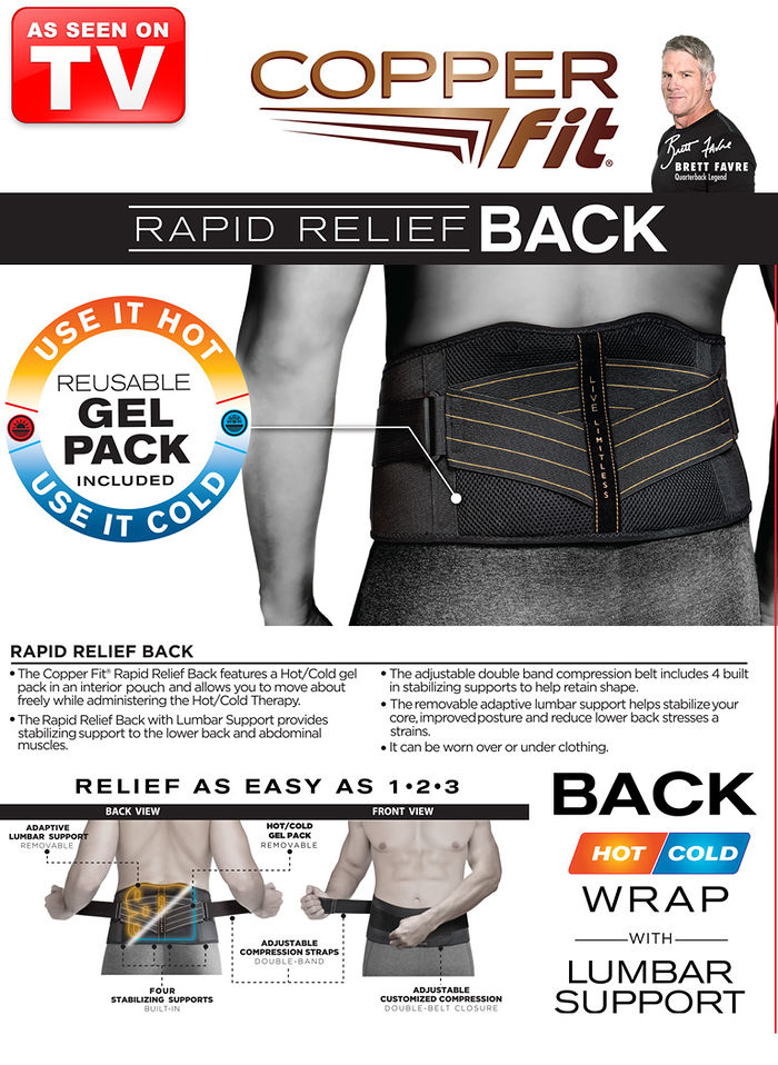 CopperFit™ Rapid Relief Wrap Back