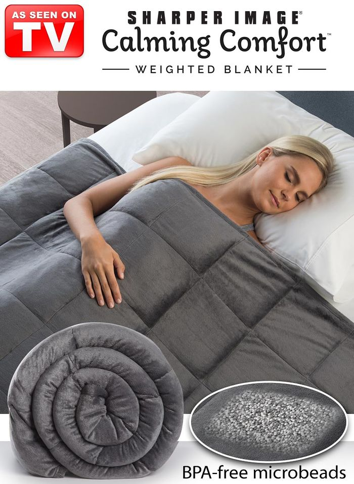 Sharper Image® Calming Comfort™ 15lb. Weighted Blanket