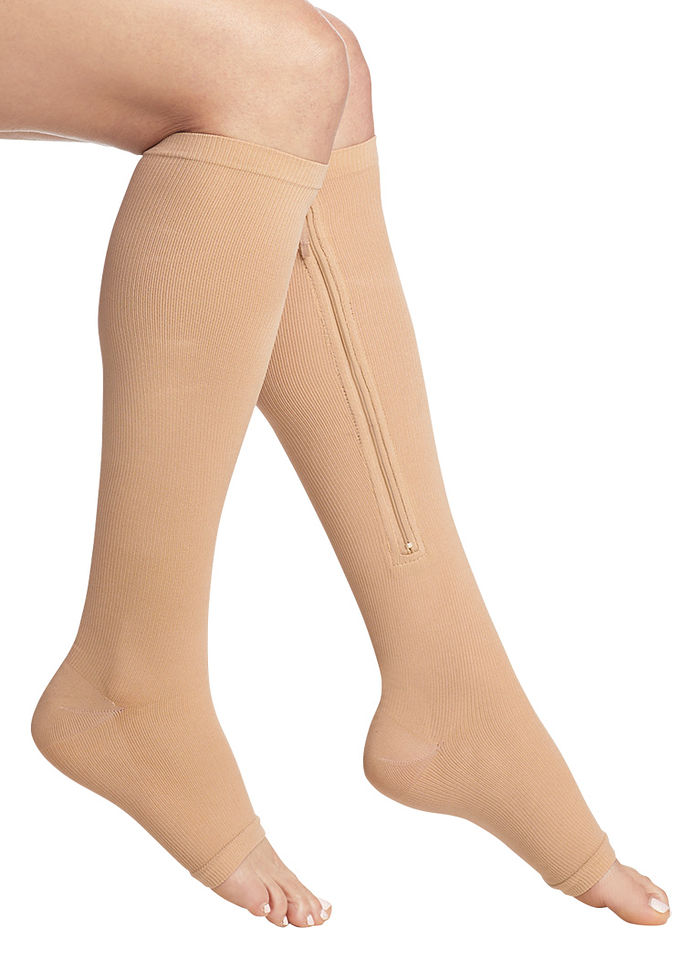 Gel Zipper Compression Socks