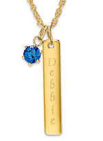 Product Review Ladies' Goldtone ID Pendant with Birthstone Charm