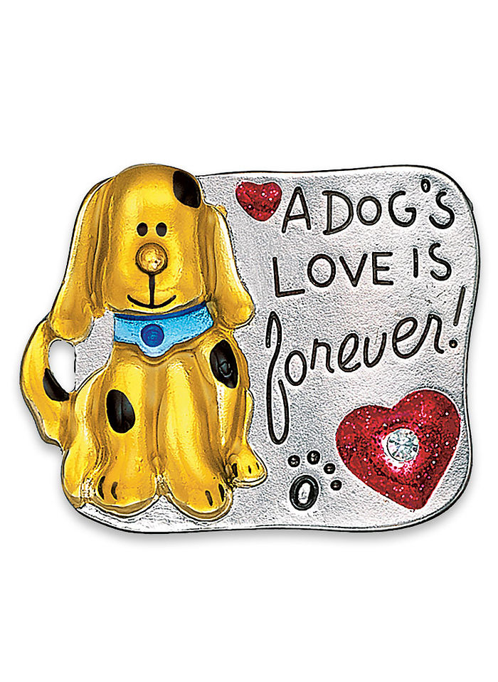 Lovable Dog Pin