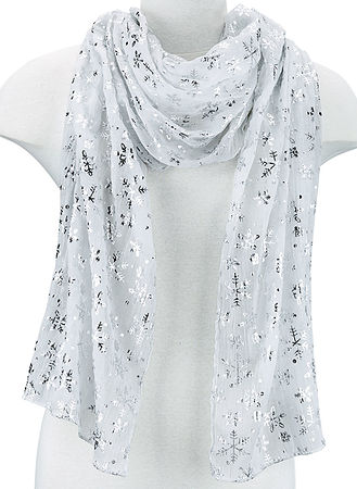 Main Winter White Scarf