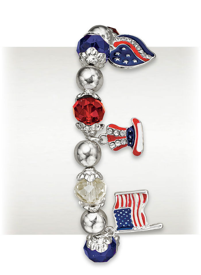 Land of the Free Stretch Bracelet