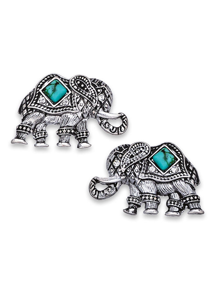 gold silver earrings tradesy i elephant