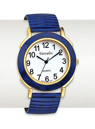 Main Classic Navy Stretch Watch