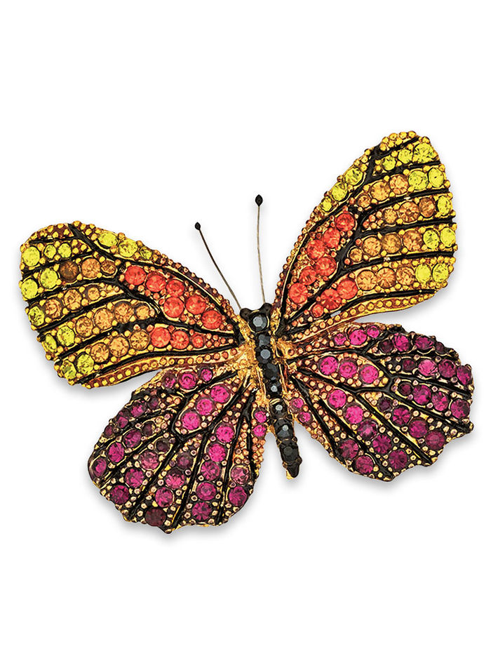 Butterfly Sunset Pin