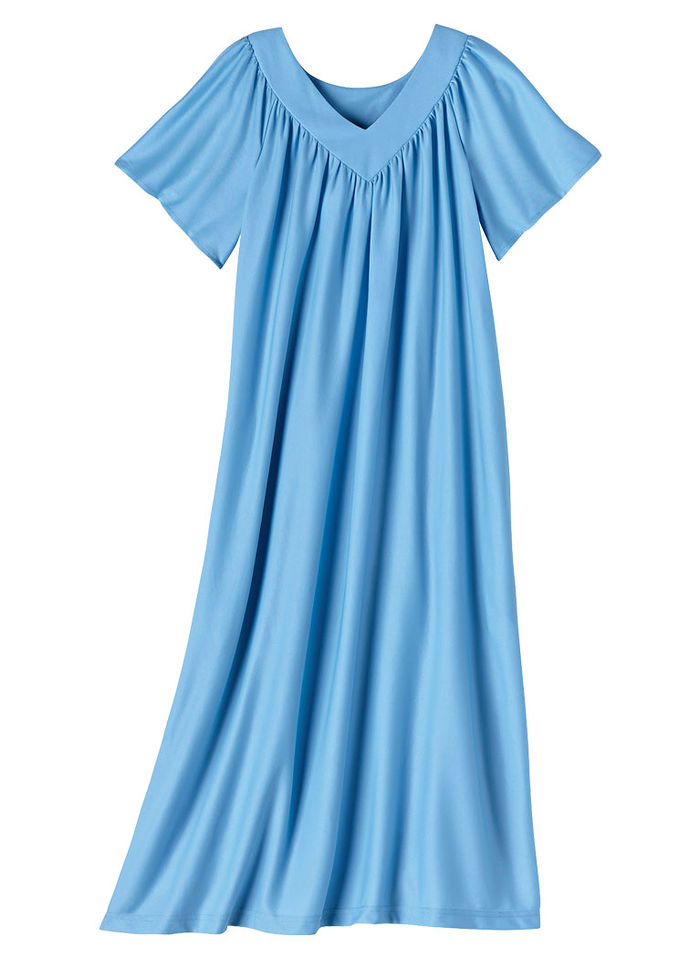 V-Neck Muumuu with Pockets