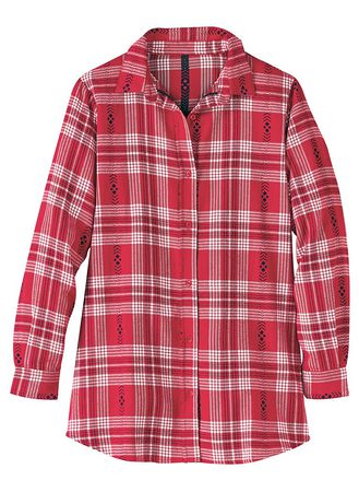Main Button-Front Flannel Top