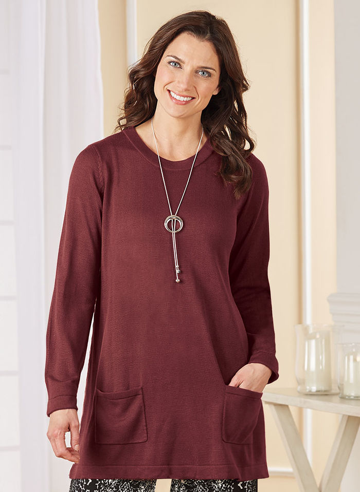 Patch Pocket Sweater Tunic