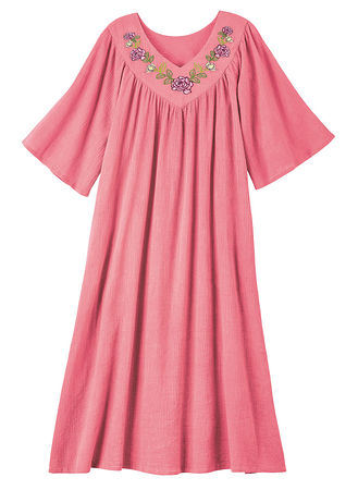 Main Embroidered Cotton Muumuu