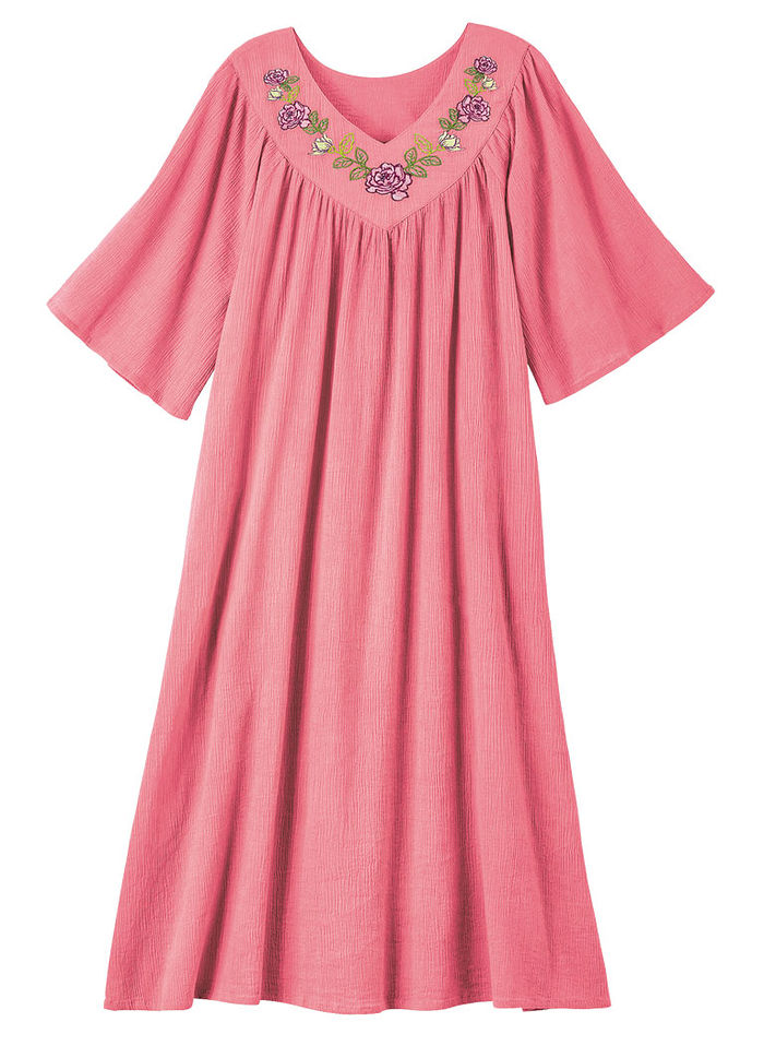 Embroidered Cotton Muumuu
