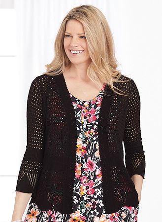 Main Open-Weave Sweater Shrug