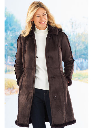 totes® Faux Shearling Coat - AmeriMark - Online Catalog Shopping ...