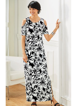 c12d7e2b515 Main Cold Shoulder Maxi Dress hover here for zoom