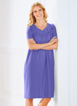 Main Solid Sweetheart Neck Muumuu with Pockets