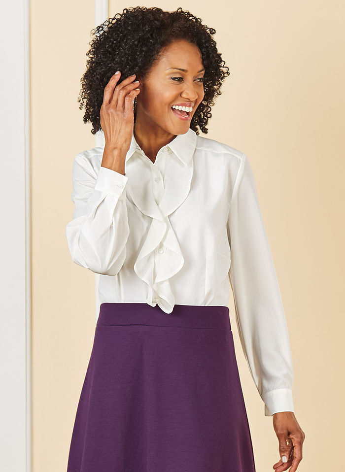 defb6296a66d6f Ruffle Front Blouse   AmeriMark