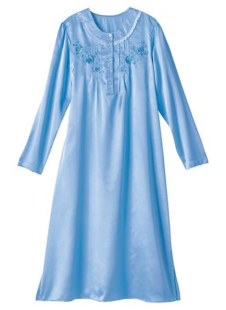 Main Brushed Back Satin Nightgown