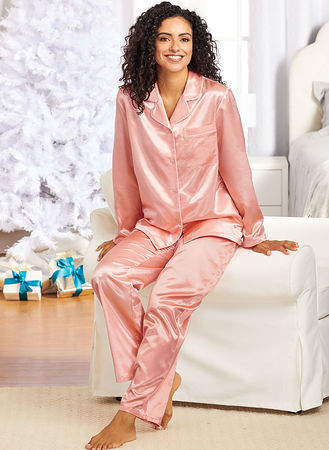 Main Brushed Back Satin PJ Set
