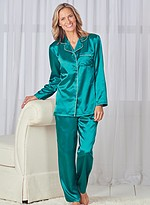 Product Review Brushed Back Satin PJ Set