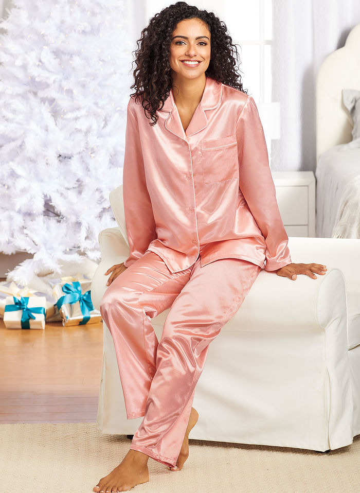 Brushed Back Satin PJ Set