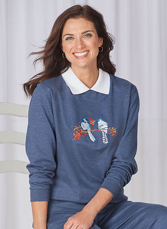 Main Casual Fleece Sweatshirt