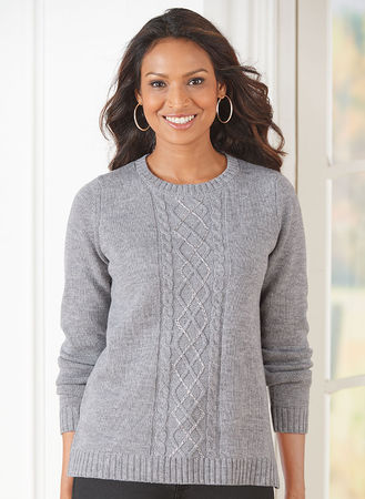 Cable Knit Sweater Amerimark Online Catalog Shopping For Womens