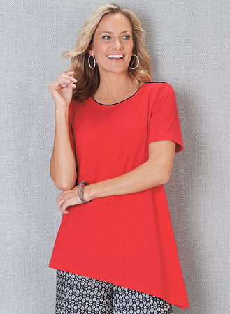 Main Contrast Seam Tunic