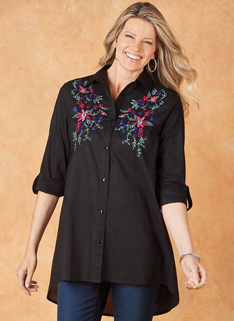 Main Embroidered Big Shirt