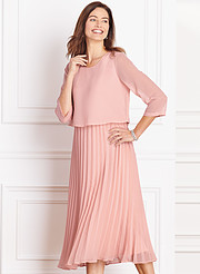 44b34d99a52 Pleated Popover Gown