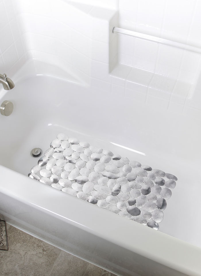 River Rock Non-Slip Bath Mat